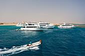 Diving Boats in Marsa Tahir Bay, Red Sea, Egypt
