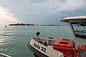 Ferry boat on the Venetian lagoon, Venice, Venezia, Italy, Europe
