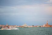 Boats and ships on the waterways of venice, Venice, Venezia, Italy, Europe