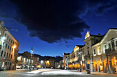 Piazza Emilio Chanoux with town hall, Aosta, Aosta Valley, Italy