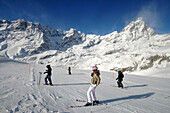 Ski resort Breuil-Cervinia with Matterhorn, Aosta Valley, Italy