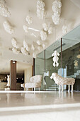 Reception area and lounge in Hotel Maison Moschino, Via Monte Grappa 12, Milan, Italy