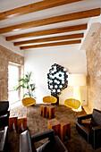 Lobby and reception, Santa Clara Urban Hotel and Spa, Carrer Sant Alonso 16, Palma de Mallorca, Mallorca, Balearic Islands, Spain
