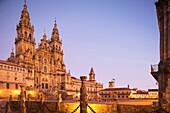 CATHEDRAL OF SAINT JAMES PLAZA DEL OBRADOIRO OLD CITY SANTIAGO DE COMPOSTELA GALICIA SPAIN