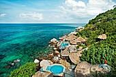 Charm Churee Villa Hotel , Jansom Bay, Ko Tao Island, Thailand, Asia