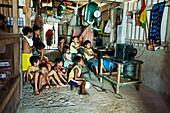 Children, Sabalo island, San Blas Islands also called Kuna Yala Islands, Panama.
