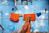 The blue village Jodhpur  Rajasthan  India.