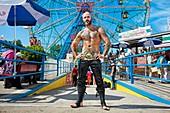 Coney Island, Amusement park  Brooklyn, New York City  USA.