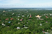 Overview from the Sagaing Hill  Southwest of Mandalay  Sagaing Division  Burma  Republic of the Union of Myanmar