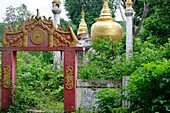 Old pagoda  Tagaung village  Along the Irrawady river  Mandalay Division  Burma  Republic of the Union of Myanmar