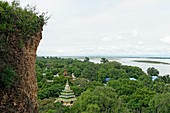 Overview from yhe Mingun Temple  Along the Irrawady river  Mingun  Sagaing Division  Burma  Republic of the Union of Myanmar