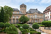 castle church, Rectory and vicarage and nursery school, Bayreuth, Bavaria, Germany