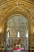 San Pedro collegiate, in Cervatos village, Campoo de Enmedio, considered as one of the most important romanesque churches of Cantabria and specially known for the most outstanding erotic decoration of romanesque temples of Spain  Cantabria  Spain