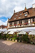 Alsace, architecture, Bas-Rhin, building, charming, city, cityscape, color image, construction, day, enchanting, frame, France, idyll, idyllic, Obernai, outdoors, scenic, timber, timbered, tourism, town, travel, vertical, village, World locations, World t