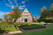 The scenic city hall of Jork, Lower Saxony, Germany, Europe