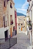 Street. Biar, Alicante province, Comunidad Valenciana, Spain.