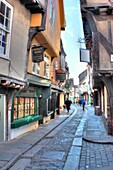 The Shambles, a medieval street, York, North Yorkshire, England, UK