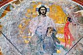 Mural painting by Milhail Nesterov, Church of St  Alexander Nevsky 1902, Akhali Zarzma, Abastumani, Samtskhe-Javakheti, Georgia