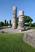 Roman Columns Frejus Var Provence France