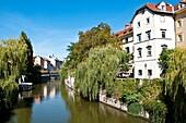 River Ljubljanica, Old town, Ljubljana, Slovenia