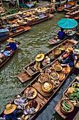 Waterways and Floating Market Vendors Damnernsaduak