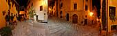 Alleys in Massa Marritima at night, Massa Marittima, province of Grosseto, Tuscany, Italy, Europe