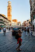 Piazza delle Erbe, Verona, Venetien, Italien