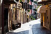 Lane, historic center, Bardolino, Veneto, Italy