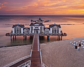 Sellin pier in the morning light, Ruegen, Mecklenburg-Western Pomerania, Germany