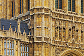 Ornament of the fassade of the Westminster Palace, London, England