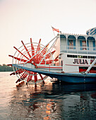 USA, Minnesota, the Julia Belle Steamboat in the Mississippi River.
