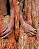 PERU, Amazon Rainforest, South America, Latin America, close-up of an Yagua Indian people hand
