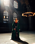 TURKEY, Istanbul, portrait of Engin Akin inside the Aya Sofya mosque