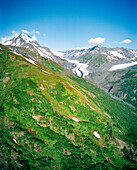 USA, Alaska, Chugach National Forest, snow capped Chugach mountains