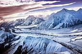 USA, Alaska, view of the Denali Range, Denali National Park