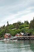 ALASKA, Homer, the Saltry restaurant at Halibut Cove