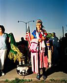 USA, Arizona, Navajo princess crowned at the annual Pow Wow, Holbrook