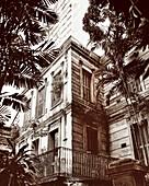 BRAZIL, Belem, South America, exterior of restaurant, original La Em Casa (B&W)