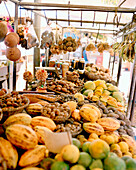 BRAZIL, Belem, South America, Amazon fruit and nuts for sale, Ver-O-Peso market