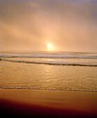 USA, California, Pacific Ocean at sunset, Ocean Beach, San Francisco