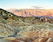 USA, California, view of mountain range from Zabriske Point, Death Valley National Park