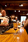 USA, California, the tasting room at Bartholomew Park winery and vineyard