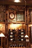 USA, California, a detial of the Gundlach Bundschu Winery tasting room