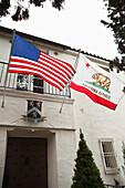 USA, California, the entrance into the Bartholomew Park winery tasting room