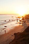 USA, California, Malibu, a sunset view of El Matador beach