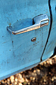 USA, California, Malibu, details of an old pickup truck at the ranch of Mildred Millie Decker, Decker Canyon