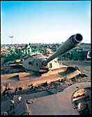 ERITREA, ERITREA, Asmara, old tanks piled in the tank cemetery