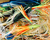 USA, Florida, fishing lures, close-up, Islamorada