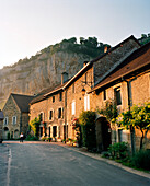 FRANCE, Baume les Messieurs, the village in the evening sun, Jura Wine Region