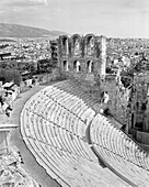 GREECE, Athens, the theater of Herod Atticus was built by the Romans in 161 AD, Acropolis